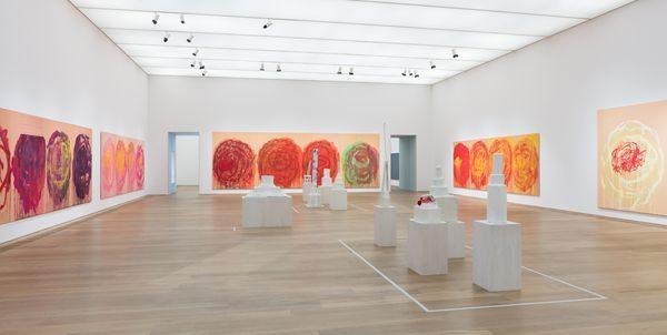 Raumansicht des Rosensaals von Cy Twombly im Museum Brandhorst.